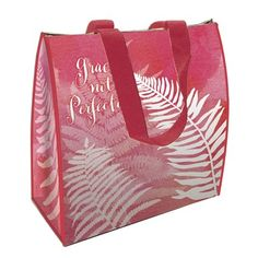 """ECO LUNCH BAG """"Grace not Perfection"""" Keeps food hot or cold. Easy to clean and non-toxic Can also be used as a gift bag."""