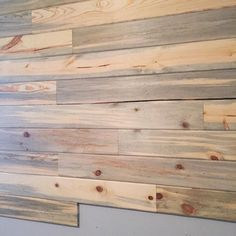 plankwall in our sons room is coming together! Loving thehellip
