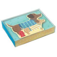 Briefpapier-Set Dackel mit 12 Karten in 2 Designs und passenden Couverts