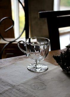 カスタードグラス ガラス デザート入れ イギリスアンティーク