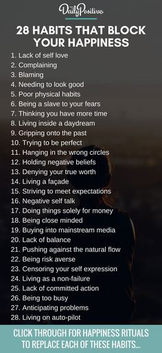 These 28 habits block your happiness and limit your potential. Which of these habits will you choose to powerfully overcome?