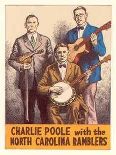 "Charlie Poole with the North Carolina Ramblers ""Pioneers Of Country Music Trading Cards"" by Robert Crumb National Lampoon Magazine, Mountain Music, Mountain Living, Fritz The Cat, Old Country Music, Alternative Comics, Robert Crumb, National Lampoons, Bluegrass Music"