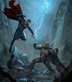 Batman v Superman!  #Comicsandcoffee