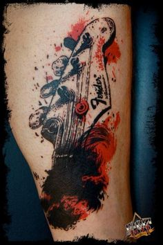 Cool trash polka tattoo. #tattoo #tattoos #ink