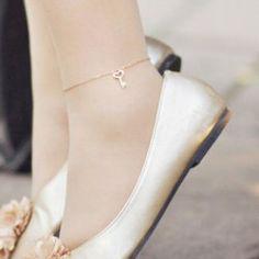 $13.82 Elegant Ladylike Style Love Key Pendant Embellished Anklet For Women