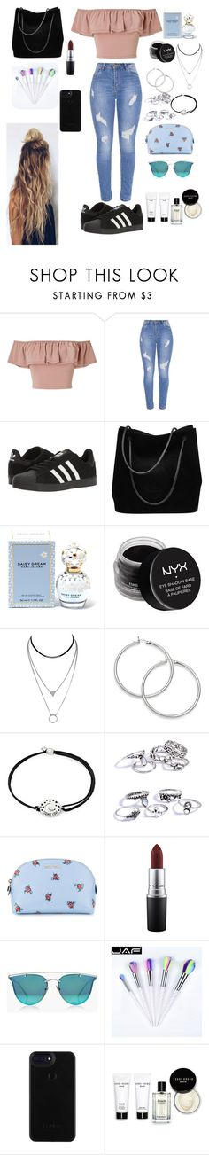 """Untitled #64"" by silviamachado20 on Polyvore featuring Miss Selfridge, adidas, Gucci, Marc Jacobs, NYX, Alex and Ani, Miu Miu, MAC Cosmetics, Boohoo and Bobbi Brown Cosmetics"