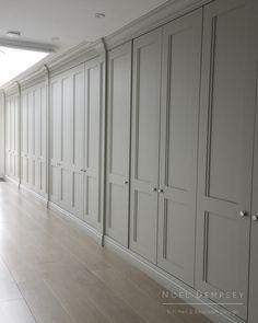 luxury furniture Custom designed cupboards by Noel Dempsey Bedroom Built In Wardrobe, Wardrobe Doors, Master Bedroom Closet, Master Suite, Room Interior, Interior Design Living Room, Coat Cupboard, Hall Cupboard, Built In Cupboards