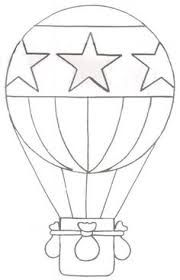 Image result for hot air balloon drawing template