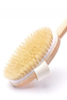 Bath & Body Brush This brush of natural bristle and wood has a detachable handle and elastic strap across the back. We use it for a bath brush and a dry ...