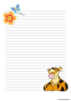 Printable Lined Paper, Free Printable Stationery, Printable Recipe Cards, Imprimibles Toy Story Gratis, Disney Frames, Lined Writing Paper, Notebook Paper, Stationery Paper, Disney Scrapbook