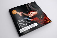 Free square brochure mockups to download and use