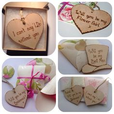 Selection of handmade invitations for bridesmaids, maids of honour, flower girls etc all can be personalised.