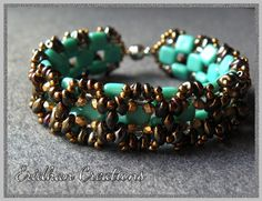 "Eridhan Creations - Beading Tutorials: ""Geometrica"" - another beaded bracelet"