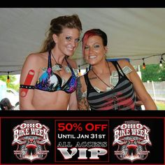 Bartenders at the 2014 Ohio Bike Week (2015 Dates are May 29 to June 7)  ONLY About 41 out of 500 of the 50% OFF DISCOUNT VIP Passes are Left! ------------- (50% offer until tickets are gone or Jan. 31st) -------------- **Tickets www.ohiobikeweek.com/event-tickets.php ------------ #ohiobikeweek #ohiobikeweekdiscount #ohbikeweek #bikeweekohio