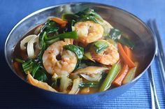 Spicy Seafood Noodle Soup (Jjamppong) #SundaySupper - kimchi MOM ™