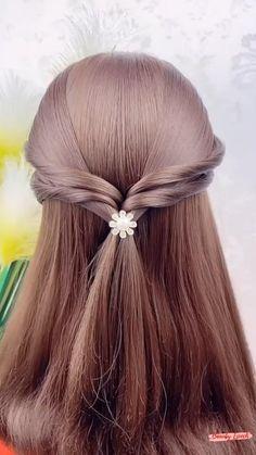 Hair Ponytail Styles, Front Hair Styles, Medium Hair Styles, Hairdo For Long Hair, Easy Hairstyles For Long Hair, Cool Hairstyles, Hair Tutorials For Medium Hair, Hairstyle Tutorials, Aesthetic Hair