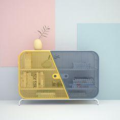 Mesh sideboard designed by Mustafa Başaran #gliesedesign #design #mustafabasaran #sideboard #furnituredesign #furniture #productdesign
