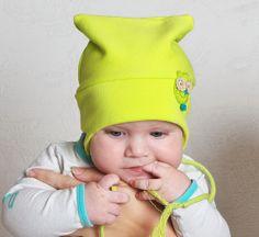 Kid beanie spring girl boy hat toddler cotton fleece by Lupeworks, $25.00