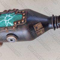 Dan Dare type Steampunk Raygun built from junk