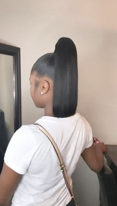 Fancy Hairstyles Half Up pin hair beauty Source: website andrew garfield hairstyles hairstylo Source: website formal wedding hairstyl. Hair Ponytail Styles, Weave Ponytail Hairstyles, Baddie Hairstyles, Sleek Ponytail, My Hairstyle, Black Girls Hairstyles, Curly Hair Styles, Fancy Hairstyles, Hairstyles 2016