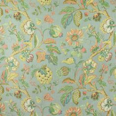 Floral Fabrics | Greenhouse Fabrics Floral Fabric, Floral Prints, Greenhouse Fabrics, Robins Egg, Deco, Pink Yellow, Your Design, Tropical, Color