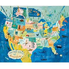 Visit all 50 states at least once.  States with southern charm get 2 visits.  New York, Illinois, and California twice once in NYC, Chicago, and LA and another time in a rural part of the state!