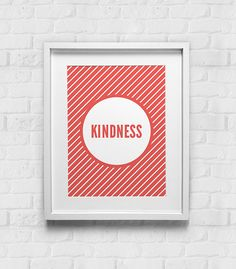Typographic Print Fruits of the Spirit Kindness / Inspirational Print / Wall Art / Typographic Poster / Bible Verse / Religious