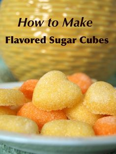 How to Make Flavored Sugar Cubes - Flavored sugar cubes add a special touch to any occasion. They are also super simple to make using only a few ingredients. Find out how with these step by step photos and instructions. Tea Recipes, Candy Recipes, Cooking Recipes, Recipies, Picnic Recipes, Cooking Tips, Tee Sandwiches, Finger Sandwiches, Infused Sugar
