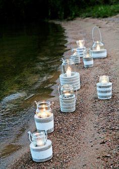 Glas Hurrikane mit Betonsockel