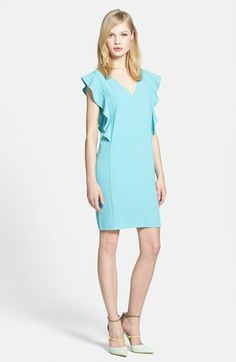 Chelsea28 Ruffle Sleeve Shift Dress available at #Nordstrom ... except in a size that actually fits (this is huge on the model)