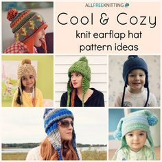 Check out Cool & Cozy: 24 Knit Earflap Hat Pattern Ideas for a bunch of cute earflap hats! We especially love these for children and babies, but they're pretty cute on adults, too.