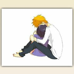 Find images and videos about anime, bleach and Ichigo on We Heart It - the app to get lost in what you love. Ichigo X Rukia, Bleach Ichigo And Rukia, Anime Bleach, Bleach Fanart, Naruhina, Cute Anime Pics, Anime Love, Studio Ghibli Wallpaper, Bleach Couples