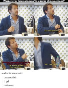 Misha Collins - the pending sex scenes...Oh boy, I hope so!!