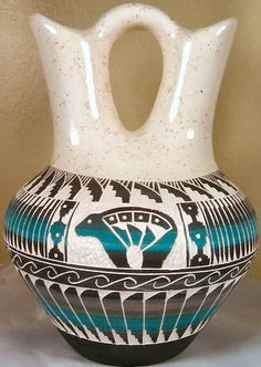 Native American Indian Pottery-I have two of these wedding vases. I love them!