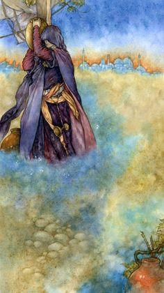 Illustration from the Rubaiyat of Omar Khayyam, by Niroot Puttapipat (via çizgili masallar blog)