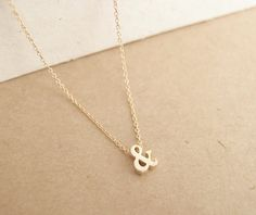 ampersand necklace- so delicate