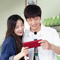 """When Red Velvet's Joy and BTOB's Sungjae appeared on """"We Got Married"""" fans were absolutely convinced they were actually in love. Sungjae And Joy, Sungjae Btob, Wgm Couples, Kpop Couples, Iphone Wallpaper Pinterest, We Get Married, Red Velvet Joy, Ulzzang Couple, Daesung"""