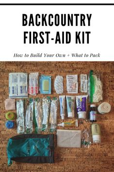 Having a first-aid kit is a necessity while traveling in the backcountry. Here's how to build your own backcountry first-aid kit and what to pack. Hiking First Aid Kit, Diy First Aid Kit, Backpacking First Aid Kit, First Aid Tips, Thru Hiking, Camping And Hiking, Camping Hacks, Hiking Packs, Hiking Food