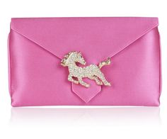 Designer Clothes, Shoes & Bags for Women Yellow Clutch, Designer Clutch, Pink Handbags, Pink Candy, Pink Silk, Small Bags, Print Patterns, Purses, British Clothing
