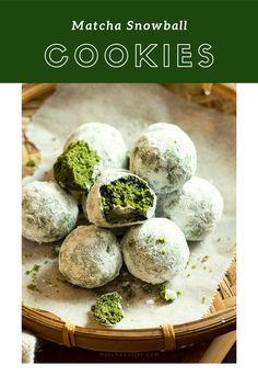 Try this out! Lovely snowball cookies🤤 Matcha Cookies, Matcha Tea Powder, Traditional Bowls, Green Kale, Organic Matcha, Snowball Cookies, Healthy Drinks, Fun Desserts