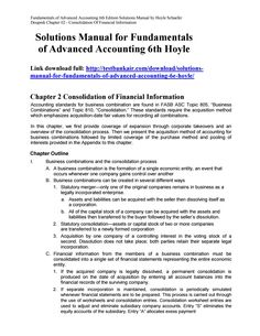 Download solution manual for financial and managerial accounting 6th solutions manual for fundamentals of advanced accounting 6th hoyle fandeluxe