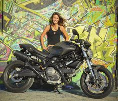 Devy (Devin), 18 from South Florida  with her carbon fiber Monster 696