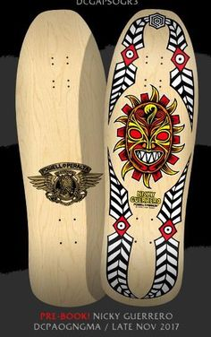 Powell Peralta Nicky Guerrero Mask Natural Skateboard Deck  **Pre-Sale