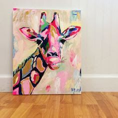 giraffe art canvas - Google Search