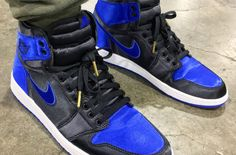 Air Jordan 1 Mens 2018 Basketball Shoes ROYAL SATIN Air Jordan 9 087ec45f9