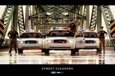 """This is the Ford 2006, 2007 Crown Victoria Interceptor Factory issued Police poster. Caption at the bottom reads """"STREET CLEANERS"""". Ford Police, Police Officer, Sirens, Radios, Police Careers, Cop Dog, 4x4, Police Quotes, Police Wife Life"""