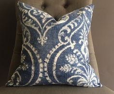 A personal favorite from my Etsy shop https://www.etsy.com/listing/497914949/pillow-cover-blue-ikat-pillow-cover