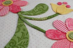 Perfect Petals. Love this technique, it really makes the petals smooth. Also love the stems made out of two different fabrics!
