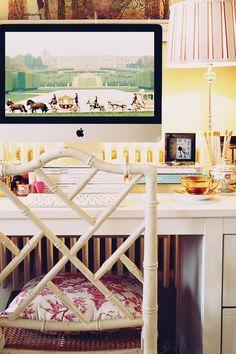 Lady's desk space