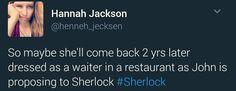 how Mary should come back xD (Johnlock) Sherlock Fandom, Sherlock Holmes, 221b Baker Street, John Watson, Johnlock, Benedict Cumberbatch, Superwholock, The Hobbit, Otp
